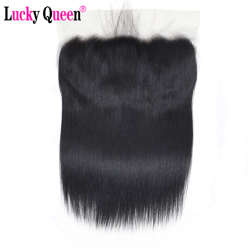 Peruvian Straight Pre Plucked Ear To Ear 13x6 HD Transparent Lace Frontal Closure With Baby Hair 8-20 Inch Remy 100% Human Hair