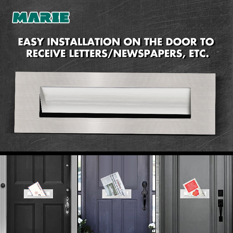 Marie LP002 Door Letter Slot Stainless Steel Mailbox Port Door Letter Box Inwardly Opened To Receive