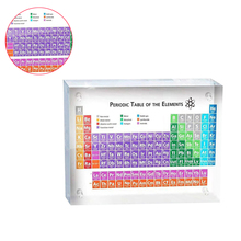Acrylic Colour Periodic Table Of Elements Display Holder Kids Childen Student Learning Tool School Teaching Supplies Home Decor