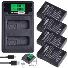 Аккумулятор EN EL14 для Nikon P7800,P7100,D3400,D5500,D5300,D5200,D3200,D3300, EN-EL14, 1500 мАч, 2 ЖК-дисплея, двойное зарядное устройство, для