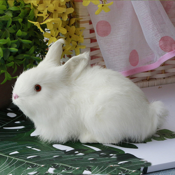 Filled plush toy rabbit fur simulation animal big white cute home decoration children gift teaching props