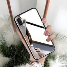 Shock-Proof Phone Case For iPhone XS XS MAX XR 6 6S 7 8 Plus X Luxury Cosmetic mirror Girly Glass TPU+PC Phone Back Cover Coque(China)