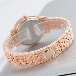 Image 1 - SUNKTA New Arrivals Women Watches Stainless Steel Exquisite Watch Women Rhinestone Luxury Casual Quartz Watch Relojes Mujer