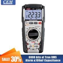 Multímetro digital cem DT-8908D de alta precisão medidor inteligente automático display digital multímetro portátil 35/6 fusíveis proteção
