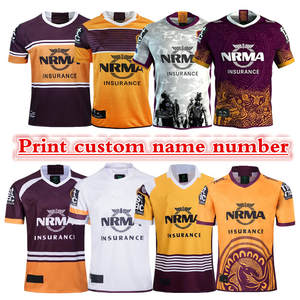 Rugby-Jersey Brisbane Broncos Name Custom Number-The-Quality Perfect. Free-Delivery Size:S-3xl-Print