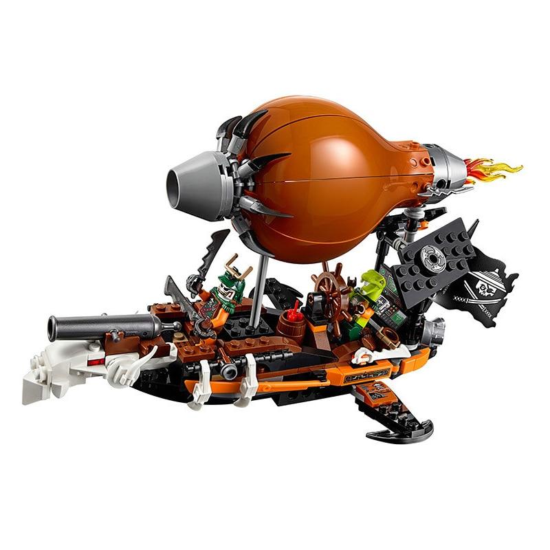 Bela 10448 318pcs Ninjago Raid Zeppelin Weapon Building Blocks For Children Assembling Toys 70603 Compatible With City