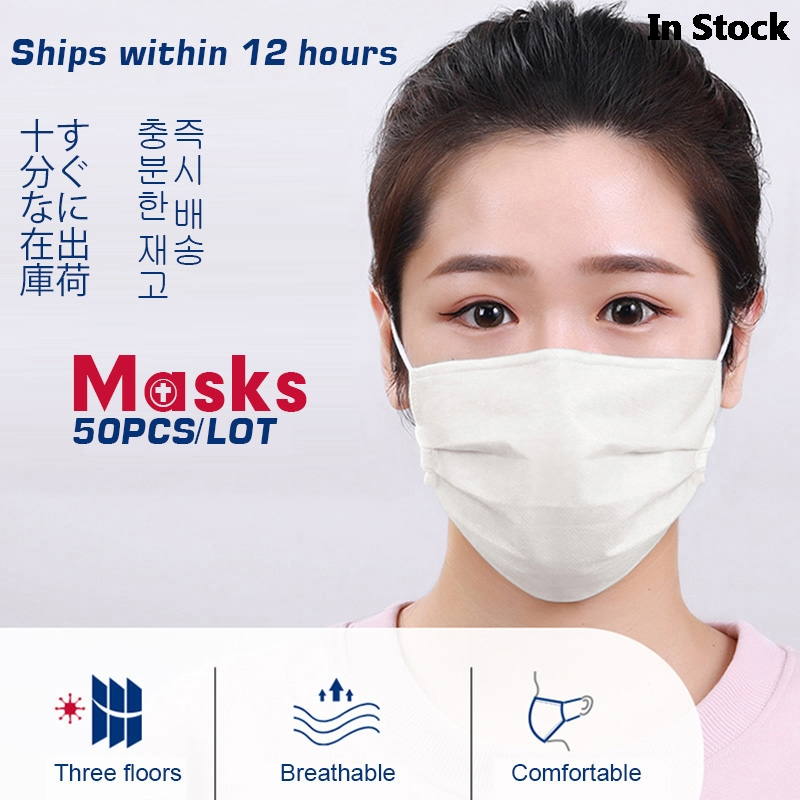 Profession Medical Mask Anti Virus Dust 50Pcs Medical Surgical 