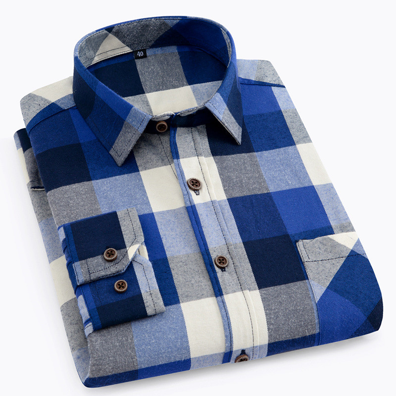 DAVYDAISY High Quality Casual Shirts Men 2020 Autumn Long Sleeve Fashion Flannel Plaid Shirt Male Camisas 6 Colors DS-135