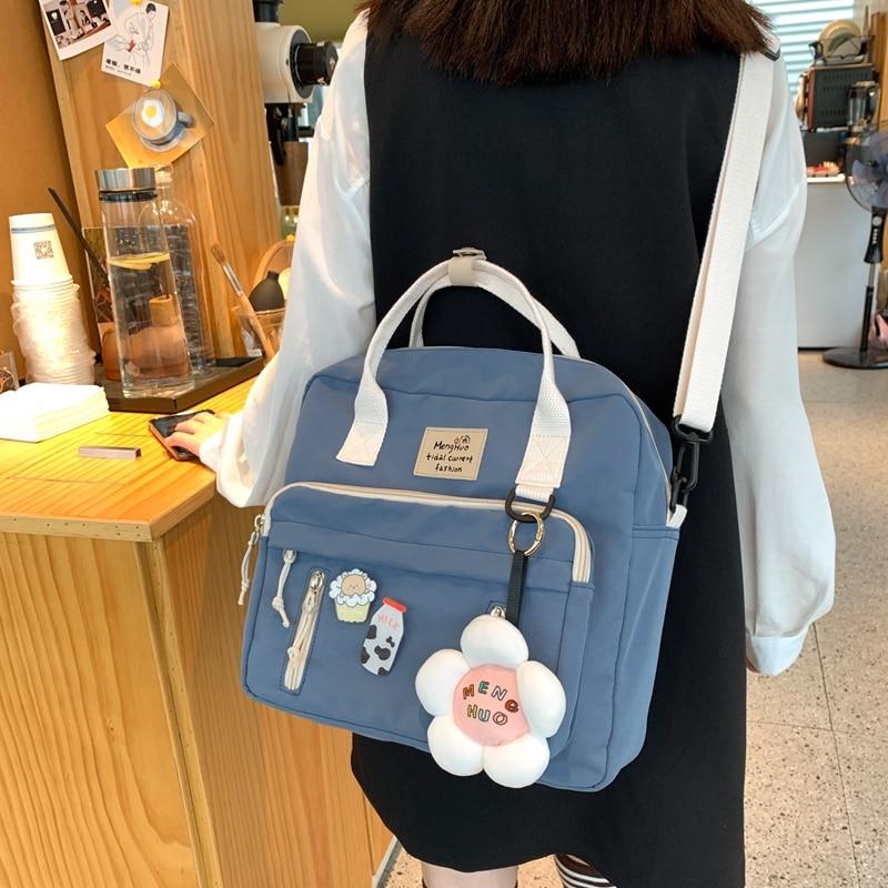 Kawai Harajuku Cute Stickers Ring buckle Flower Backpack 2