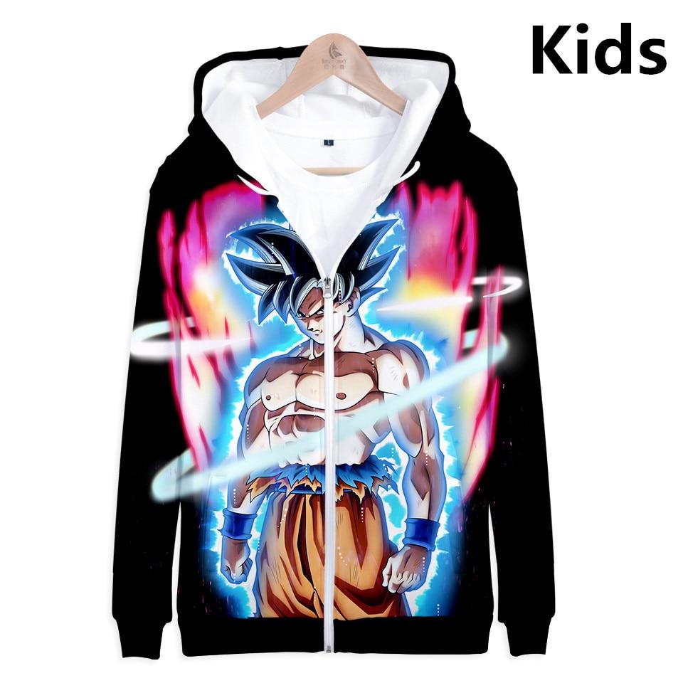 2 To 13 Years Kids Hoodies Dragon Ball Z Son Goku 3D Printed Hoodie Sweatshirt Boys Girls Long Sleeve Jacket Children Clothes