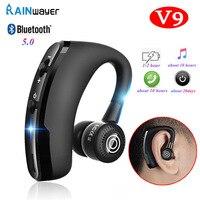 Auriculares inalámbricos V9 con Bluetooth, auriculares manos libres Auriculares inalámbricos con Bluetooth con micrófono, controlador deportivo