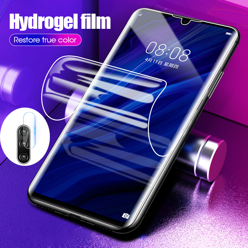 2in1 Protective soft hydrogel Film On The For <font><b>Huawei</b></font> P40 P40 Pro P40 Lite Lens Film For <font><b>Huawei</b></font> <font><b>P30</b></font> Camera <font><b>Screen</b></font> <font><b>Protector</b></font> Film image