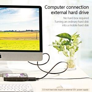 """Image 3 - SATA ל usb C מתאם SATA כבל עבור 2.5 """"ו 3.5"""" החיצוני SSD דיסק קשיח כונן ממיר מקרה"""