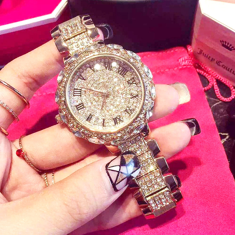Women Watch Woman 2020 Luxury Brand Gold Clock Lady Wrist Watches Crystal Female Ladies Quartz Watch Fashion Women's Wristwatch