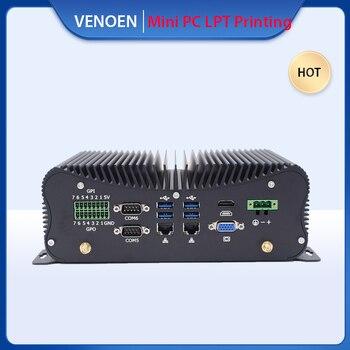 인텔 코어 i5 i7 8250U 7267U 4500U 산업용 미니 PC GPIO LPT 포트 7*24 시간 리눅스 소형 컴퓨터 WiFi HDMI VGA 4G 모델