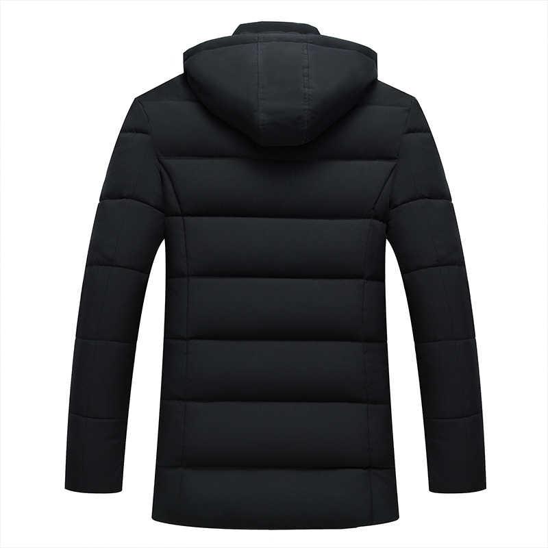 Parka hombres chaqueta abrigos espesar chaquetas de invierno cálido Casual hombres Parkas con capucha Outwear ropa de chaqueta acolchada de algodón