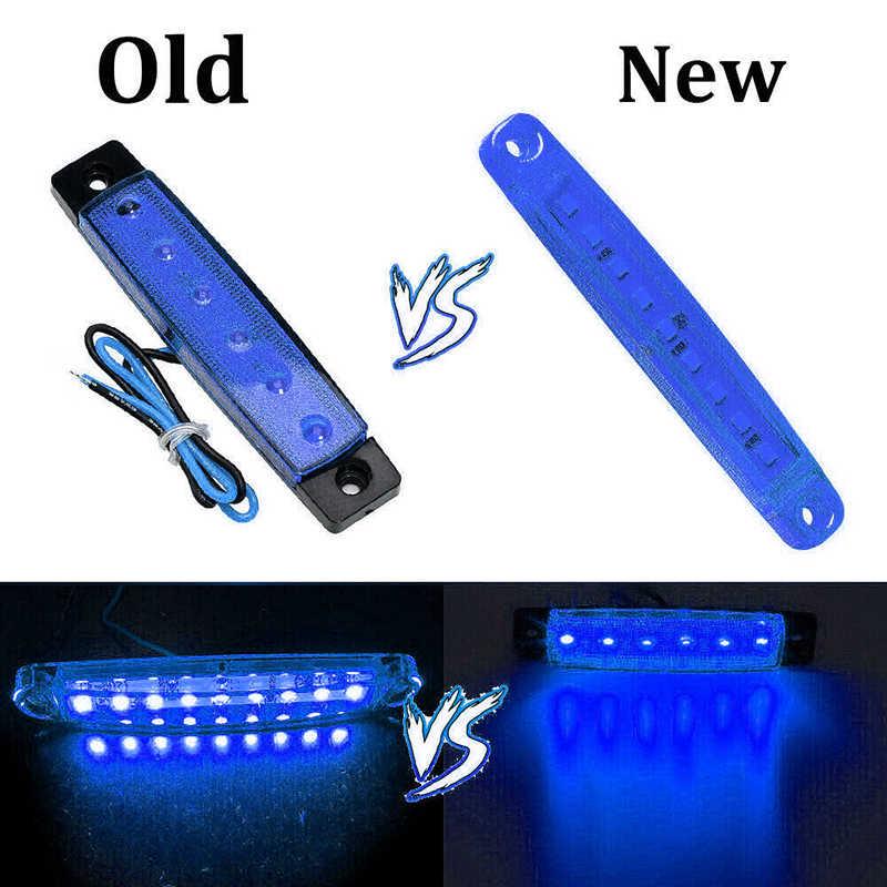 החלפת צד אורות חלקי רכב סמן עמיד למים 24V נורות ABS פלסטיק 20pcs כחול משאית