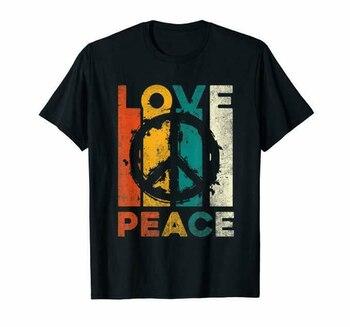 Love Peace Freedom T-Shirt 60S 70S Tie Dye Hippie Shirt Tee T-Shirt Cotton S-6Xl Casual Print Fashion Tee Shirt