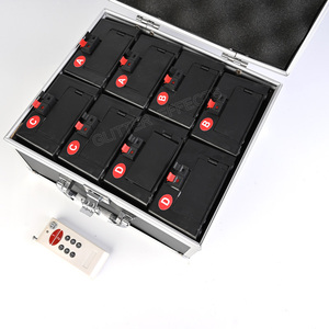 Image 5 - קר זיקוקי הצתה מכונת אלחוטי מרחוק פירוטכניקה 8 רמזים מקלט שלב ציוד מזרקת מערכת 1 מקרה 8 בסיס ירי