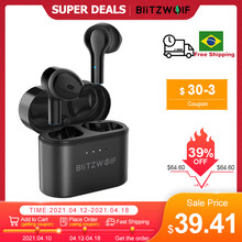 BlitzWolf BW-FYE9 TWS bluetooth 5.0 Earphone Wireless Earbuds Half In-ear DSP Noise Reduction Low Latency Gaming with Mic Buds