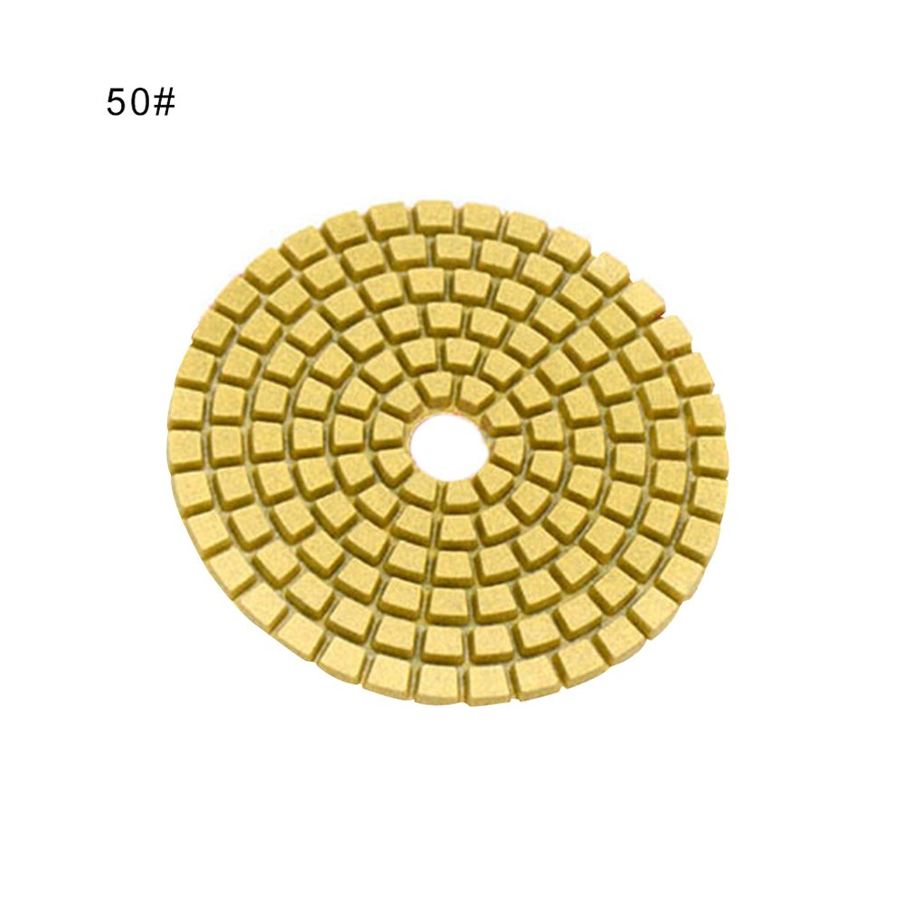 1pc 4 Inch Diamond Polishing Pads Durable Granite Stone Polishing Mat Portable Sanding Disk For Granite Marble