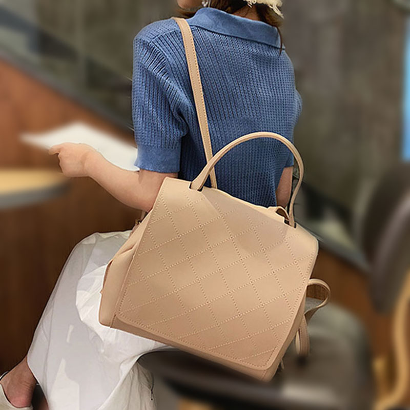 Fashion Leather Backpack Female Women School Bags Backpack For Teenger Girl Shoulder Bags Casual Sac A Dos Multifunction Bagpack