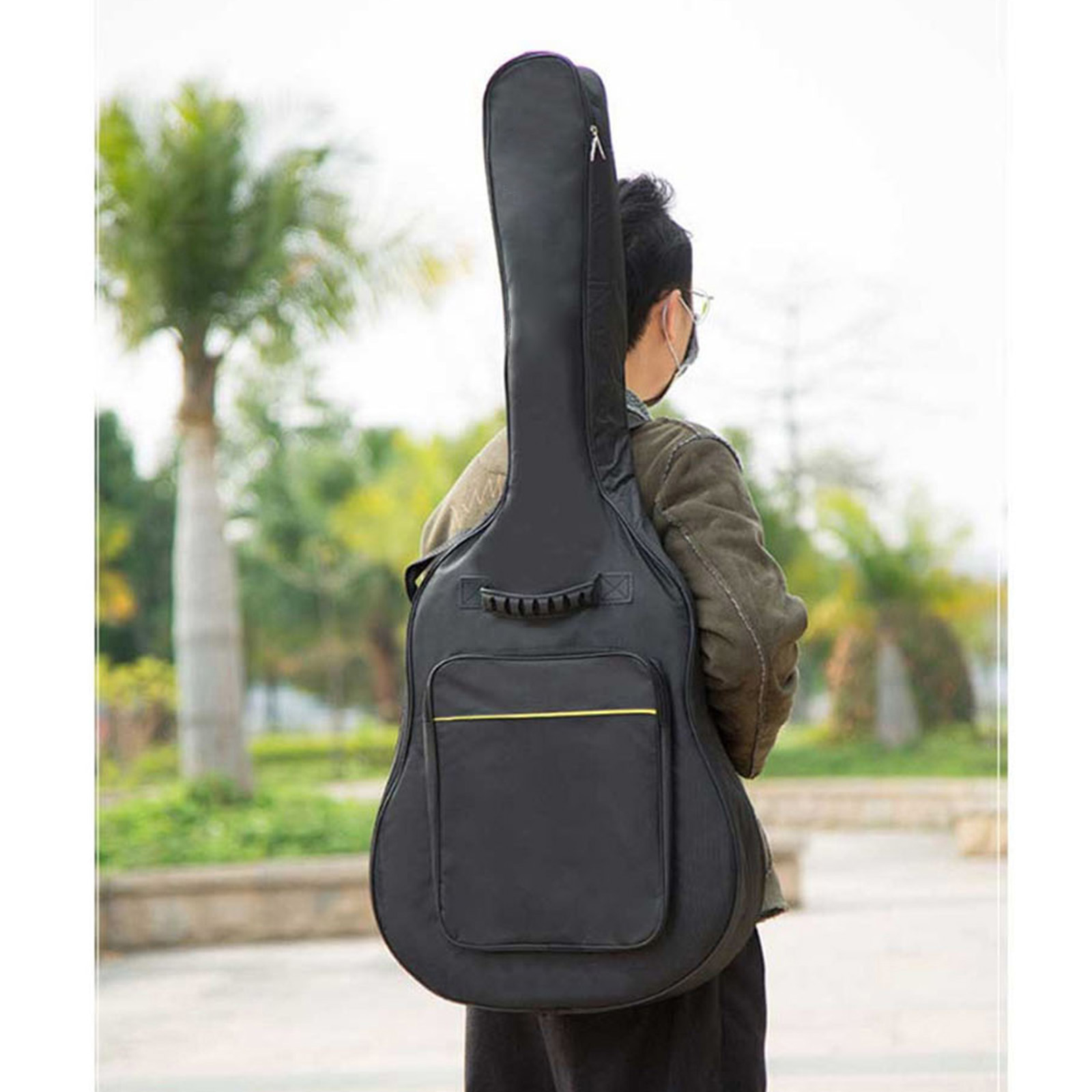 36'' inch Acoustic/Electric Guitar Folk Bag Waterproof Travel Guitar Case Guitar Carrying Bag Cotton Padded Adjustable Strap