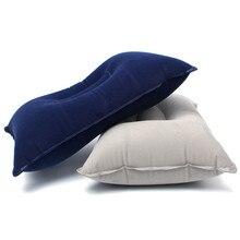 Надувная подушка для путешествий на открытом воздухе, утолщенная Флокированная квадратная складная надувная подушка для сна для кемпинга