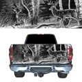 숲의 deers b/w 뒷문 그래픽 데칼 픽업 트럭 자동차 뒷문