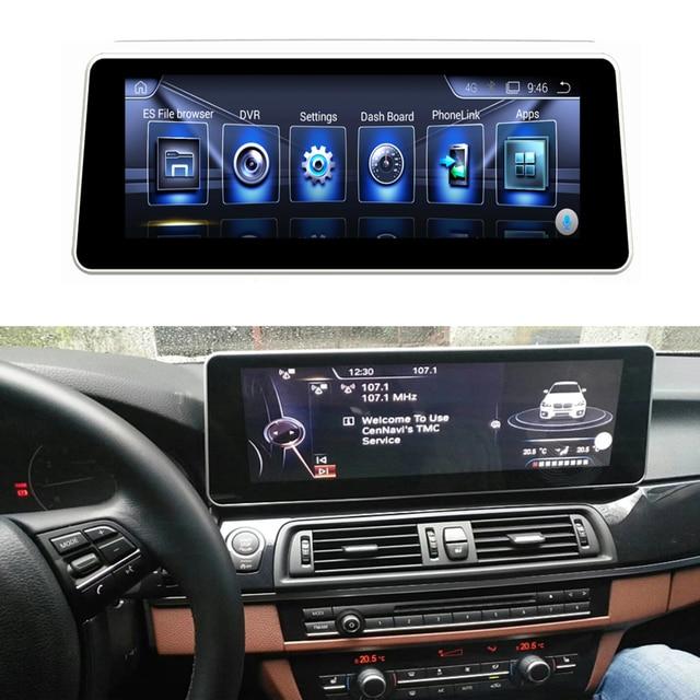 15.6 ekran dotykowy Android odtwarzacz multimedialny wyświetlacz Stereo nawigacja GPS dla BMW serii 5 lub X1 2013 2016 F10/F11/F48