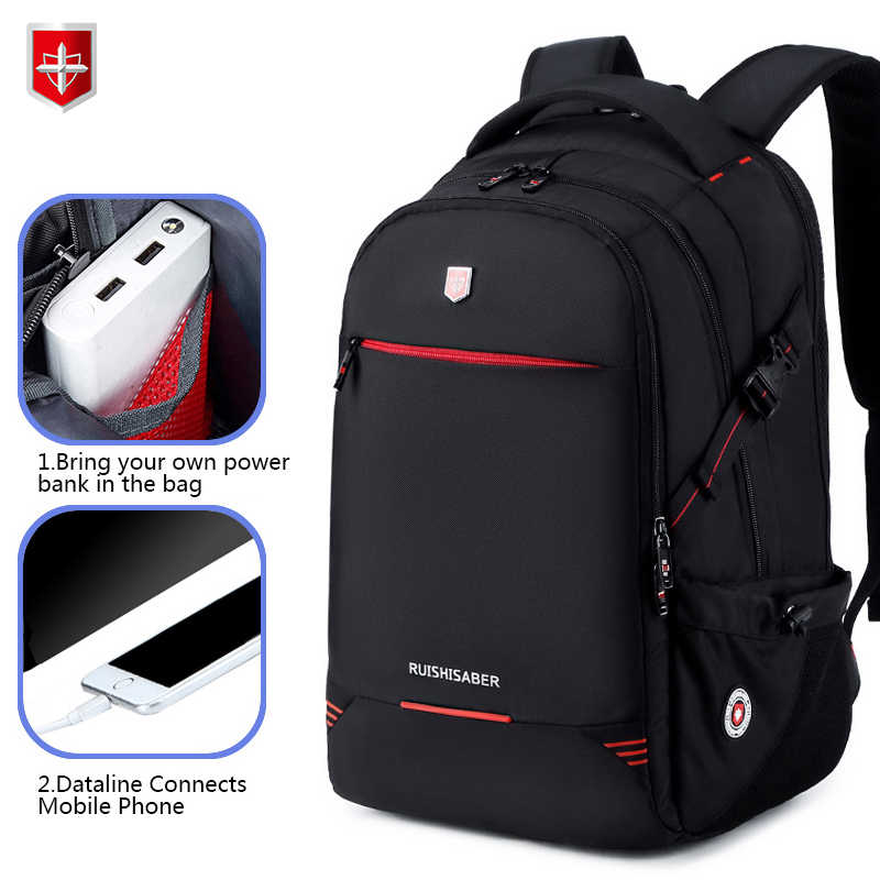 Nowy wodoodporny 15.6 calowy Laptop męski plecak antykradzieżowy plecak z ładowarką USB Fashion Business Travel Teenage bag Mochila Male