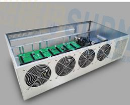 Free Shipping,  ETH Miner Plug-in Platform Built-in B85  Motherboard Thickened Electrolytic Board Chassis 8 Graphics Card 1