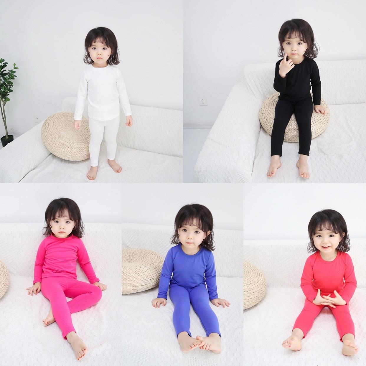 2019 Spring Children Tracksuit South Korea Childrenswear BOY'S Girls Thermal Underwear Cotton Baby Pajamas