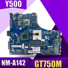 Laptop Y500 Lenovo GT750 Mainboard NM-A142 for Ideapad Y500/original QIQY6 HM76