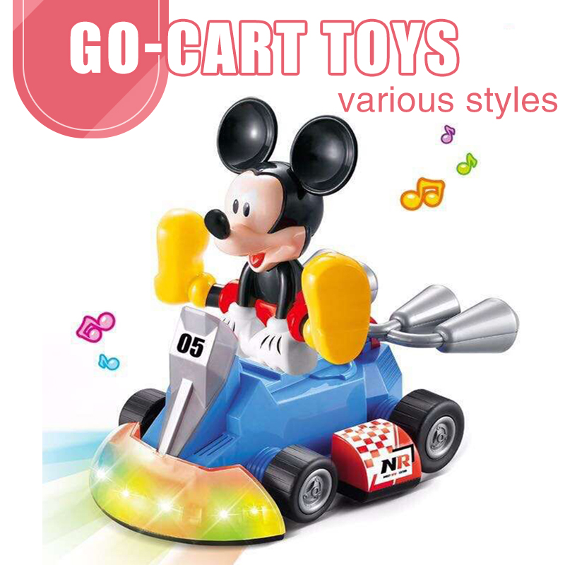 Children's Drift Go-kart Q Version Modeling Light Music Electric Mickey Universal Toy Car Educational Toy