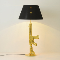 Modern LED Resin Floor Lamps Battlegrounds M416 Bedroom Living Room Decoration Nordic Indoor Floor Light Lighting Standing Lamp