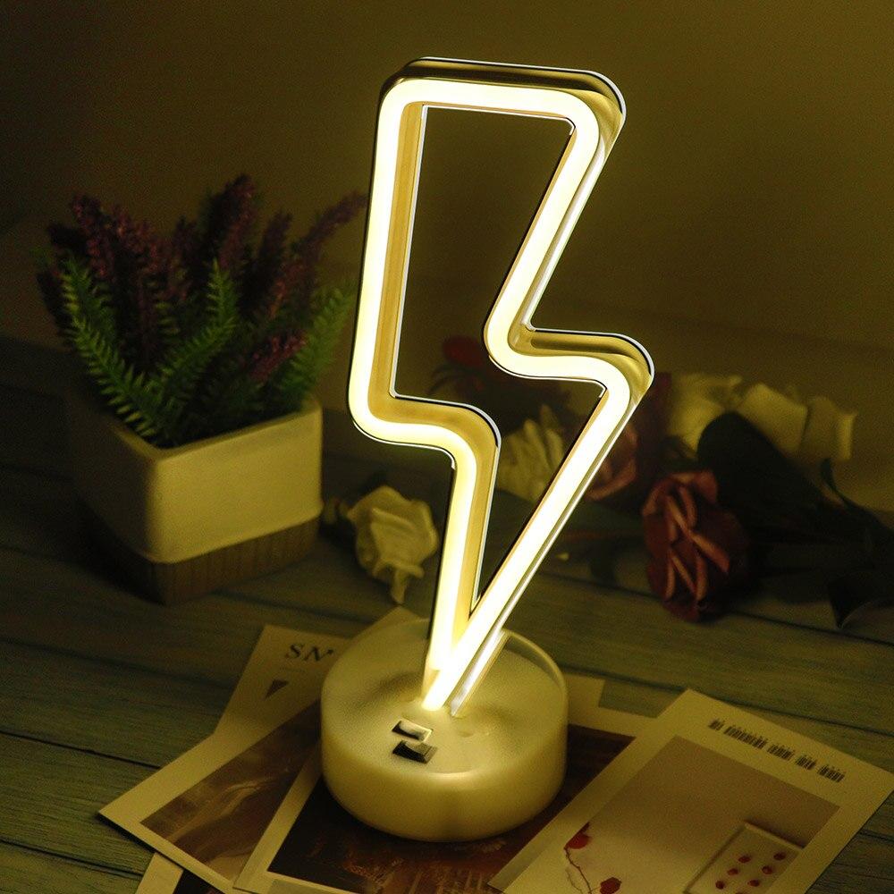 Dekorative LED Neon Licht Zeichen Stern Mond Lampe USB LED Nacht Lichter Dekoration für Home Hochzeit Partei Geschenke Neon Lampe mit Basis