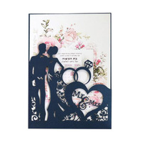 100pcs Valentine's Day Invitation Card Hollow Wedding Invitation Card Bride and Groom Greeting Cards Gift Party Supply