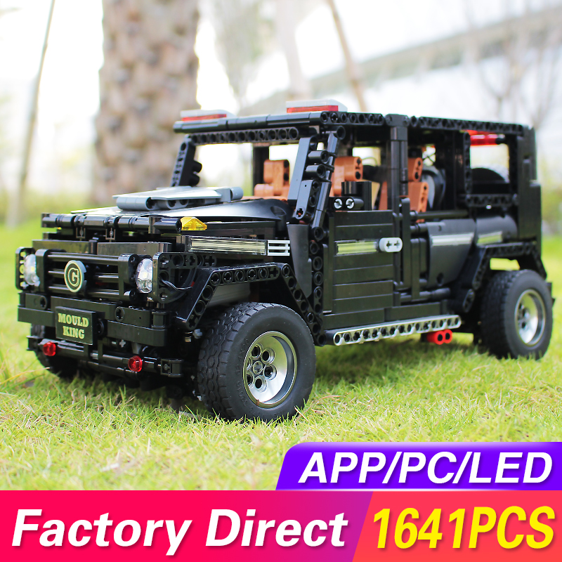 LegoED Technic APP RC Car MOC Benz SUV G500 AWD Wagon Offroad Vehicle Model kit Building Blocks Bricks KIDS TOYS Christmas Gifts image