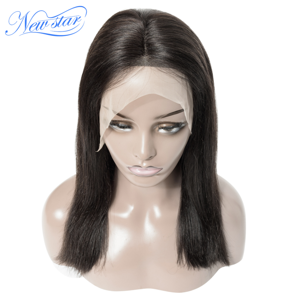 Transparent Lace Bob Wig Brazilian Straight 13x6 Lace Front Wig New Star Virgin Human Hair Wigs 4/5Days To Customized Wig