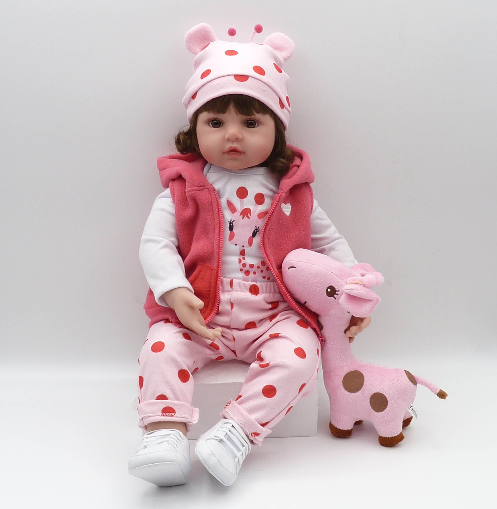 Image 5 - bebe reborn19inch 48cm lifelike doll baby newborn wholesale toys for children Christmas gift and birthday gift doll toys-in Dolls from Toys & Hobbies