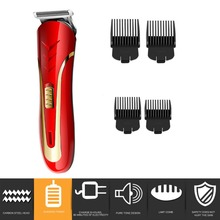 KEMEI KM-1409 Carbon Steel Head Hair Trimmer EU Plug Rechargeable Electric Razor Men Beard Shaver Electric Hair Clipper цена и фото