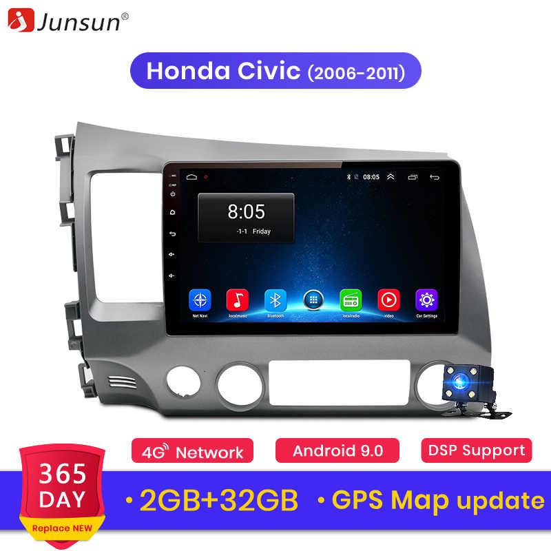 Junsun V1 2G+32G Android 9.0 For Honda Civic 20062007 2008 2009-2011 Car Radio Multimedia Video Player Navigation GPS 2 din dvd