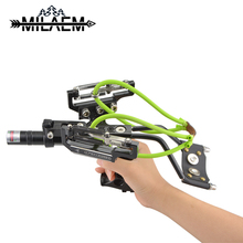 1Set Professional Hunting Bow Catapult Fishing Outdoor Powerful Slingshot for Shooting Crossbow Catch Fish