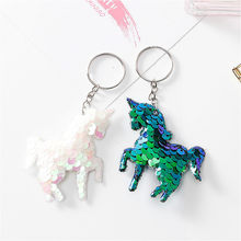 1pcs Unicorn Key Ring Plush Backpack Cute Cartoon Animal Mini Baby Toy School Bag Kids Outdoor Travel Pack Bag Student(China)