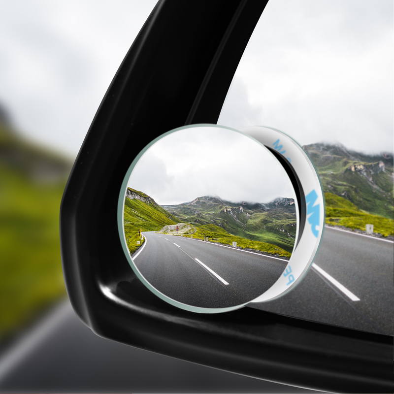 Автомобильное круглое выпуклое зеркало с углом обзора 360 градусов, автомобильное боковое зеркало для слепых зон автомобиля, широкое зеркал...