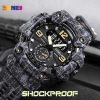 Skmei Japan Beweging 3 Tijd Dual Display Analoge Led Elektronische Quartz Horloge Militaire Mannen Sport Horloges Relogio Masculino