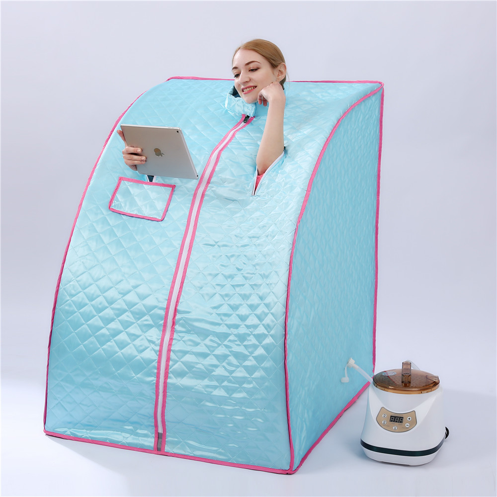 Portable Sauna Home Steam Sauna Generator New 2.8L 1500W Slimming Household Sauna Box Ease Insomnia Stainless Steel Pipe Support