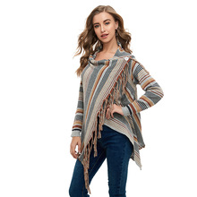 Womens Capes and Ponchoes Maternity Sweate Autumn Winter Women Fashion  Tassel Pullovers Plus Size Knitted Sweater S-XL