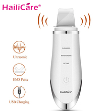 Hailicare Skin Scrubber Ultrasonic Face Cleanser Pore Cleanser Extractor Facial Spatula Skin Exfoliator Spa Vibration Massager touchbeauty facial massager sonic vibration face massager wrinkless skin care device deep moisturizer cleanser face skin tb 1666